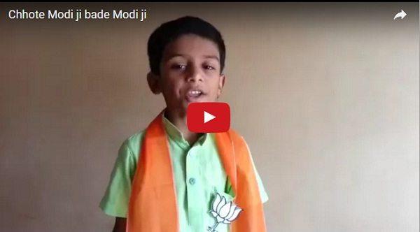 देखें कैसे मोदीजी के छोटे से फैन ने कांग्रेसियों को गिना दिए PM मोदी के 30 बङे काम