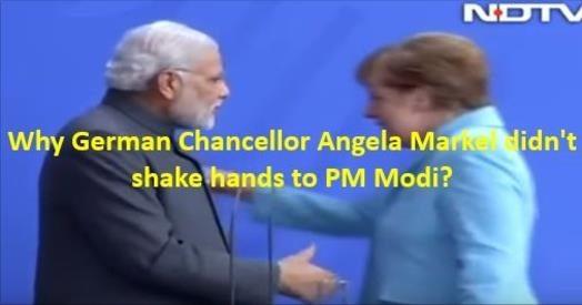 जर्मन चांसलर ने 'नहीं' मिलाया हाथ, देखते रह गए PM मोदी क्या है पूरा सच ?