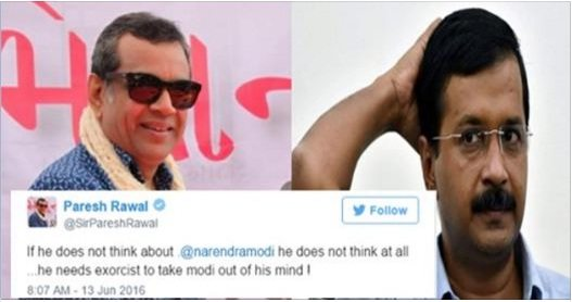 देखें कैसे परेश रावल ने ट्विटर पर केजरीवाल+आपियों की खूब बैण्ड बजाई