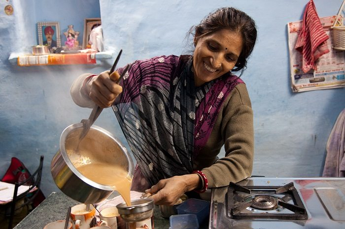 Indian woman cooking