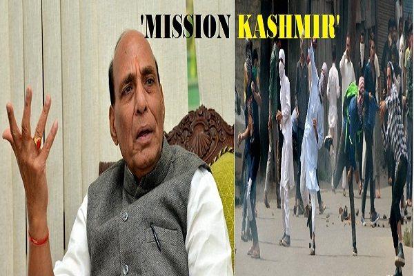 Mission kashmir Rajnath Singh