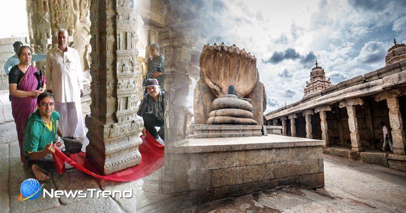 hanging temple lepakshi
