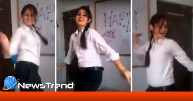 School girl awesome dance