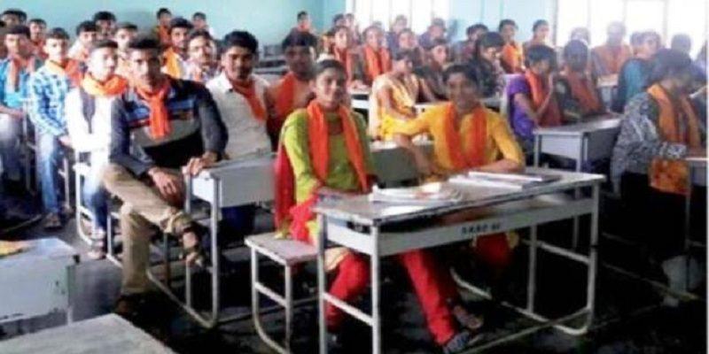 College student Wear saffron against Burka