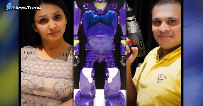 विदेश में रहने वाले भारतीय दंपत्ति ने किया कारनामा: हरियाणवी बोलने वाले रोबोट लिल्लू का वीडियो वायरल!