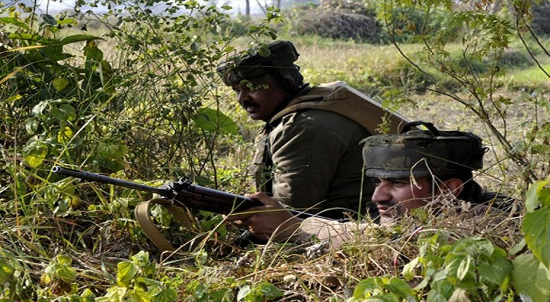 Rajouri sector of pakistan firing mortar