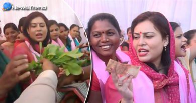 former chief ministers daughter in law sold the vegetables