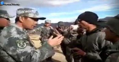Chinese troops clash with Indian soldiers