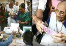 पीएम नरेंद्र मोदी की मां हीराबेन पहुंची बैंक, आम आदमी की तरह बदले नोट