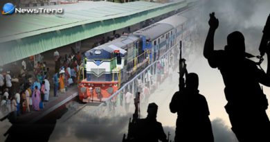 Terrorists plan to blast in train