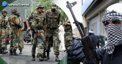 Terrorists firing on bsf convoy