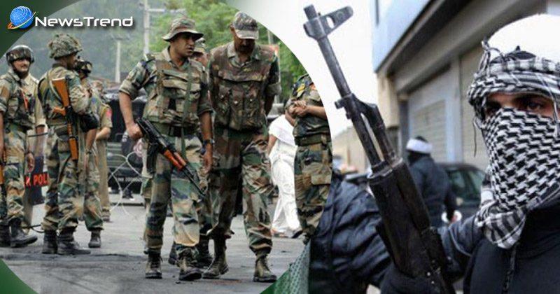 Terrorists firing on bsf convoy