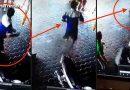 फ़िल्मी हीरो की तरह अपनी जान पर खेलकर बचायी अपने बच्चे की जान, देखकर खड़े हो जायेंगे आपके रोंगटे…. देखें वीडियो!