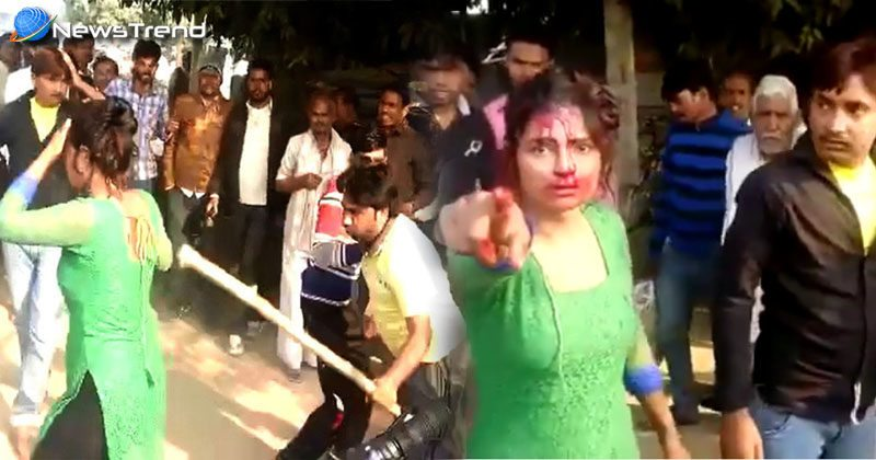 beating woman in mainpuri Uttar Pradesh