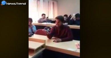 student singing song teacher