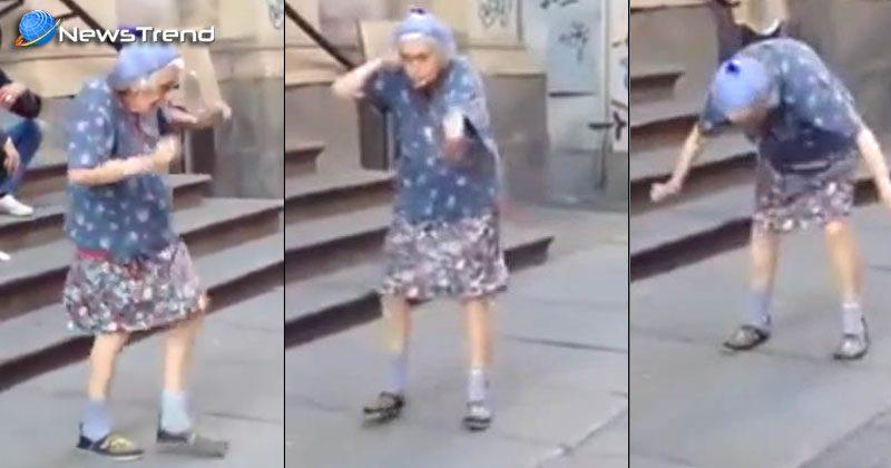 97 year old women dancing