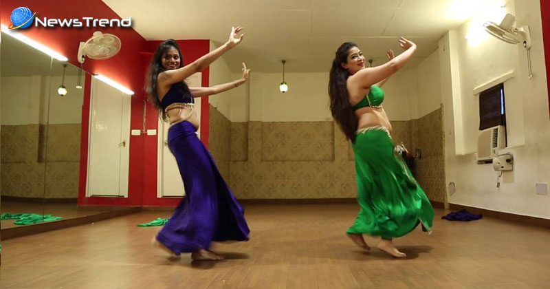 two girls belly dance