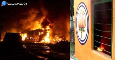 BJP office bomb attacks