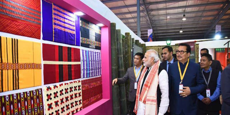 pm modi inaugurate global trade show