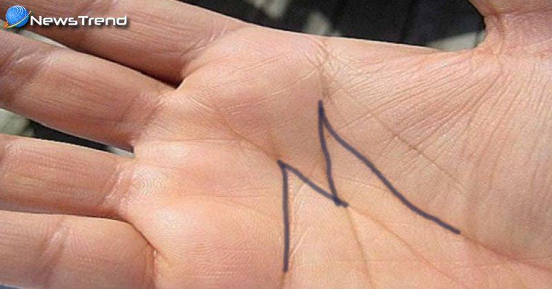 m symbol in hand