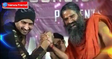 harbhajan and ramdev wrestling