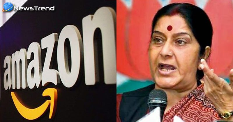 sushma swaraj warn amazon