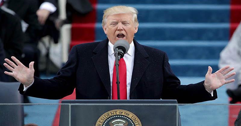 donald trump swearing