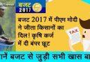बजट 2017 में पीएम मोदी ने जीता किसानों का दिल! कृषि कर्ज में दी बंपर छूट! – जानें बजट से जुड़ी सभी खास बातें!