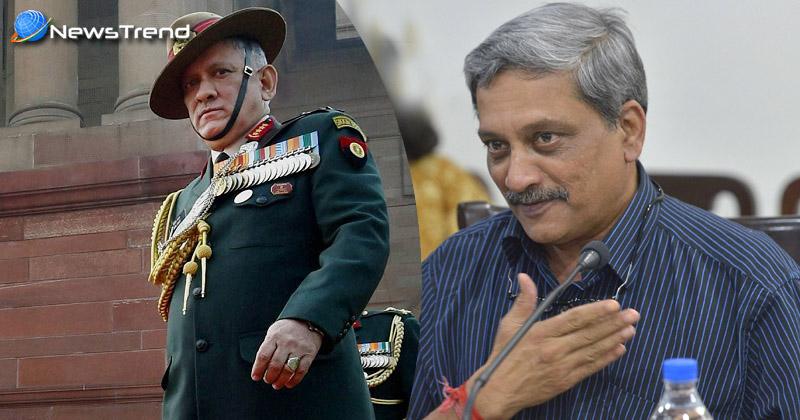 Photo of सेना प्रमुख को रक्षामंत्री पर्रिकर का पूरा समर्थन, आतंकियों के मददगारों से निपटने के लिए सेना को खुली छूट!
