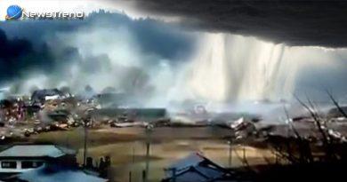 जहन्नुम के ज़मीन पर उतरने जैसा है बादल का फटना, बादल फटने का लाइव वीडियो हुआ वायरल.