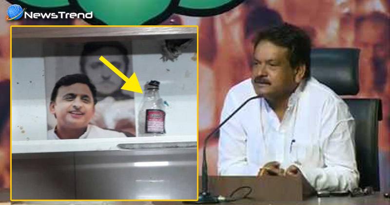 Photo of सीएम योगी के मंत्री को मिली 'अखिलेश सरकार की विरासत' के रूप में 'दारू की बोतल'!