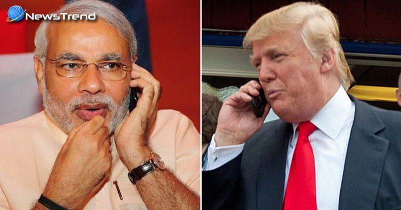 डोनाल्ड ट्रंप ने किया प्रधानमंत्री नरेंद्र मोदी को फोन, चुनावों में बीजेपी की जबरदस्त जीत पर दी बधाई !