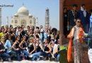 ताजमहल में घुसने से पहले विदेशी मॉडल से उतरवाया गया भगवा स्कार्फ, सरकार ने दिए जांच के आदेश!
