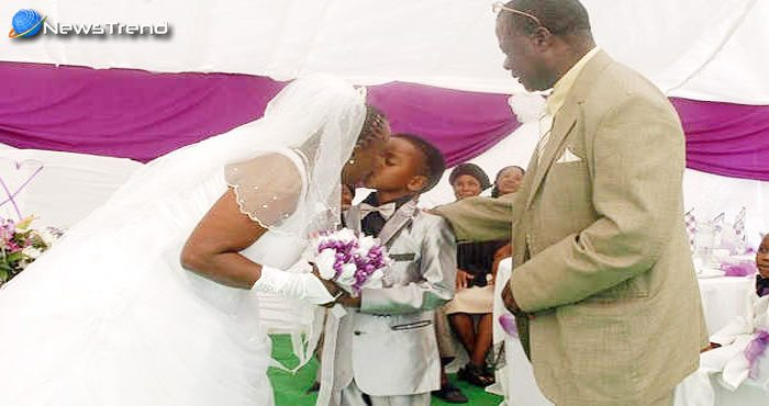 61 साल की दुल्हन संग 8 साल के दूल्हे ने रचाई शादी, पूरा मामला जानकर हो जायेंगे हैरान!