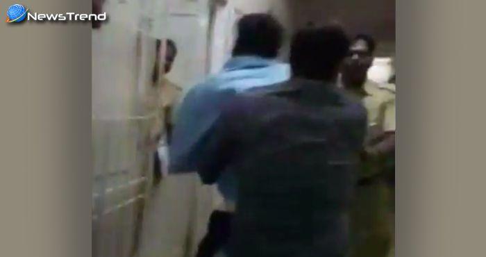 खाकी पर खादी की गुंडागर्दी : कांग्रेसी नेता ने पुलिसवाले को बेरहमी से पीटा – वायरल हुआ वीडियो!