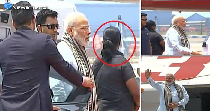 पीएम मोदी के आगे पीछे घुम रही थी ये महिला, एक ट्वीट से खुल गया इसका राज!