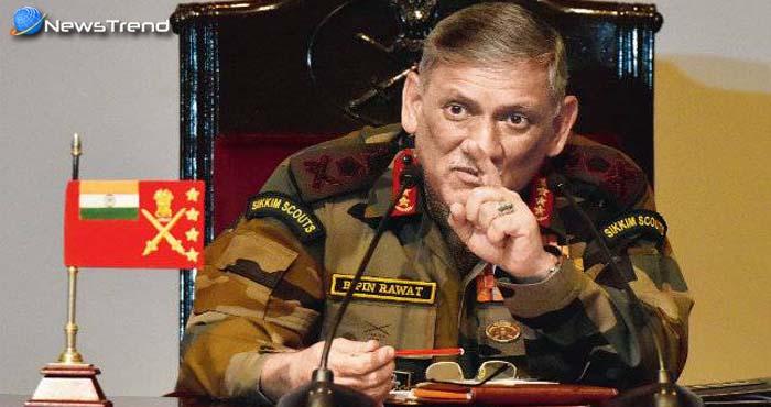केवल सेना ही नहीं पूरा देश रहे दो फ्रंटों पर युद्ध के लिए तैयार, आर्मी मुखिया बिपिन रावत का बयान