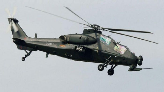 Chinese chopper sighted in airspace