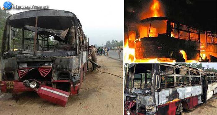 बरेली में बस और ट्रक के टक्कर से हुआ भयानक हादसा, 22 लोग जिन्दा जले!