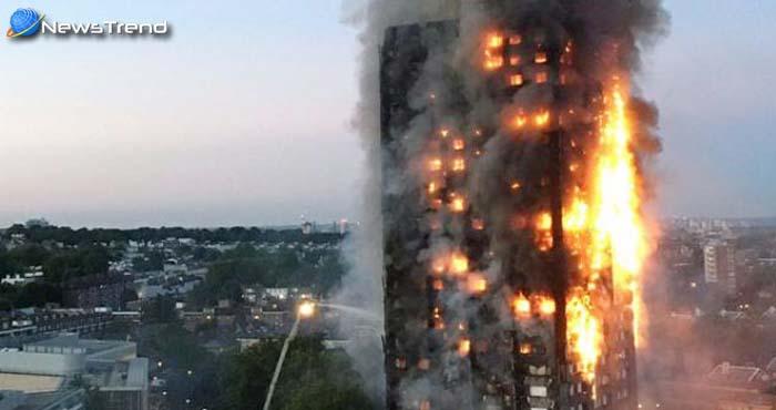 लन्दन में 27 मंजिला इमारत में भीषण आग, 40 फायर इंजन और 200 दमकलकर्मी मौके पर!