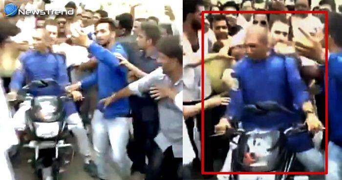 राहुल की स्टंटबाजी : बाइक से हीरो की स्टाइल में पुलिस को चकमा दे पहुंचे मंदसौर... देखें वीडियो!