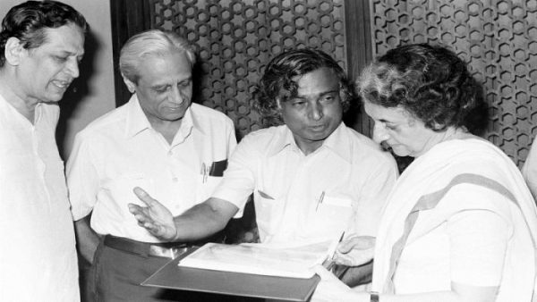 Kalam Indira and Modi picture