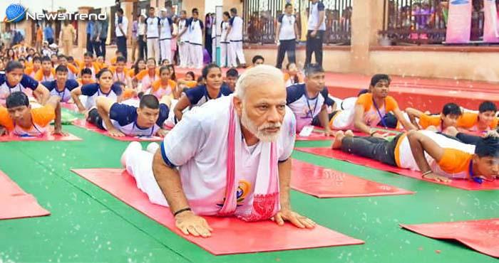 पीएम मोदी ने बारिश में भी किया योग, कहा नमक की तरह ही योग को बनायें अपने जीवन का हिस्सा!
