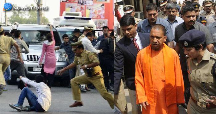 सीएम योगी की सुरक्षा में चूक, एक दारोगा और 6 कॉन्सटेबल सस्पेंड, 14 गिरफ्तार!