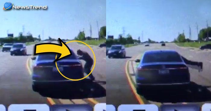 चलती गाड़ी में घुसकर साहसी ट्रक ड्राईवर ने बचाई व्यक्ति की जान... वीडियो वायरल!