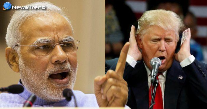 भारत और चीन की आलोचना करने पर राष्ट्रपति डोनाल्ड ट्रम्प को करारा जवाब दिया पीएम मोदी ने!
