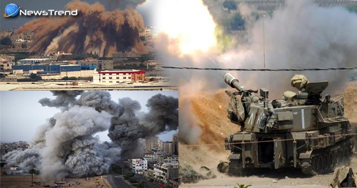 इजरायली सेना ने गाजा पट्टी में आतंकियों को तोप से उड़ाया, सामने आया दिल दहला देने वाला वीडियो – देखें