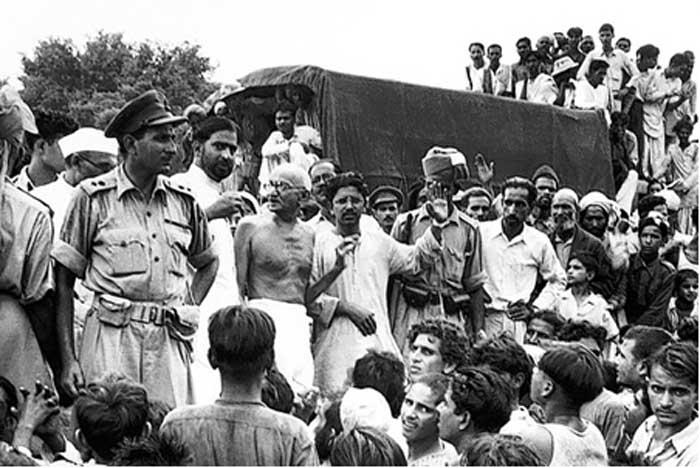 गांधी जी के  70 मिनट के भाषण