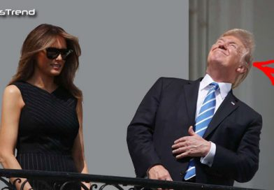 डॉनल्ड ट्रम्प ने बिना चश्मे के देख लिया सूर्यग्रहण, उसके बाद जो हुआ वो होश उड़ा देगा : देखें वीडियो