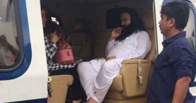 Sadhvi along with ram Rahim in jail